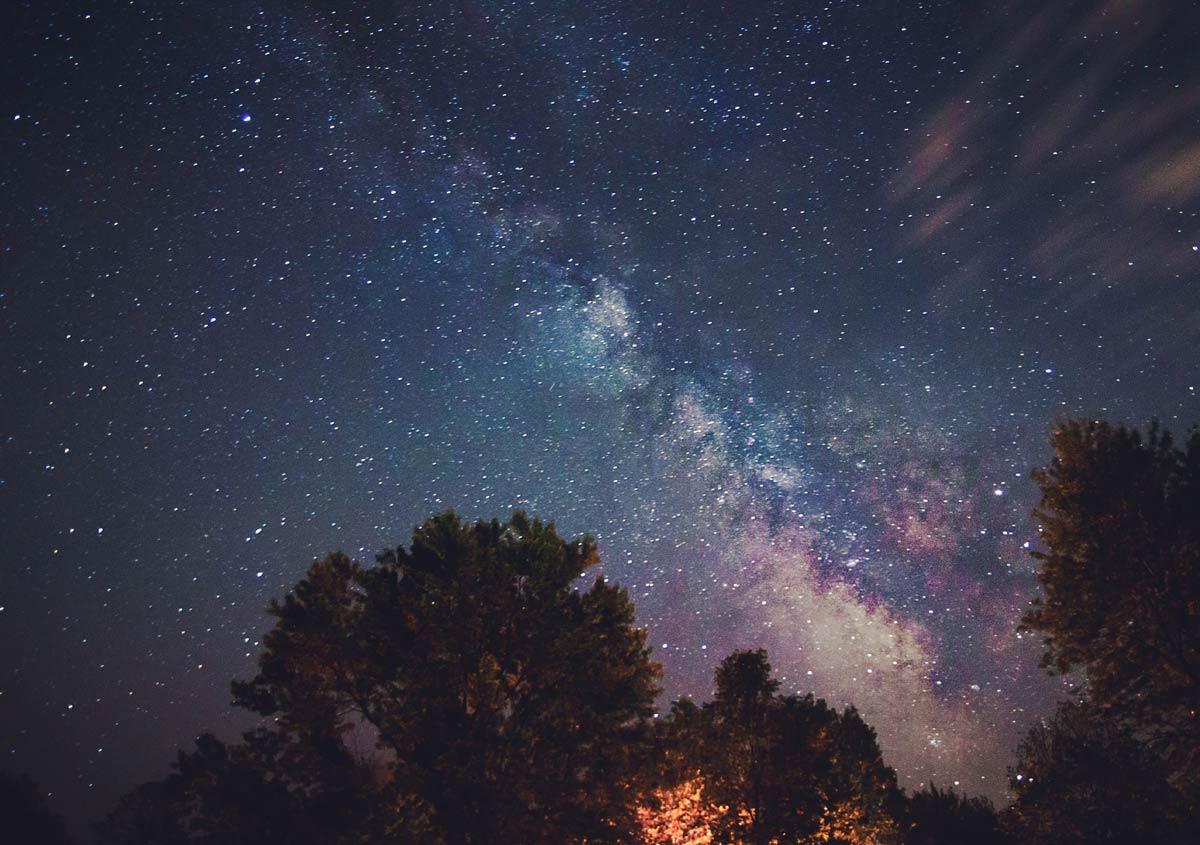 Milky Way Galaxy Long Exposure in Canada