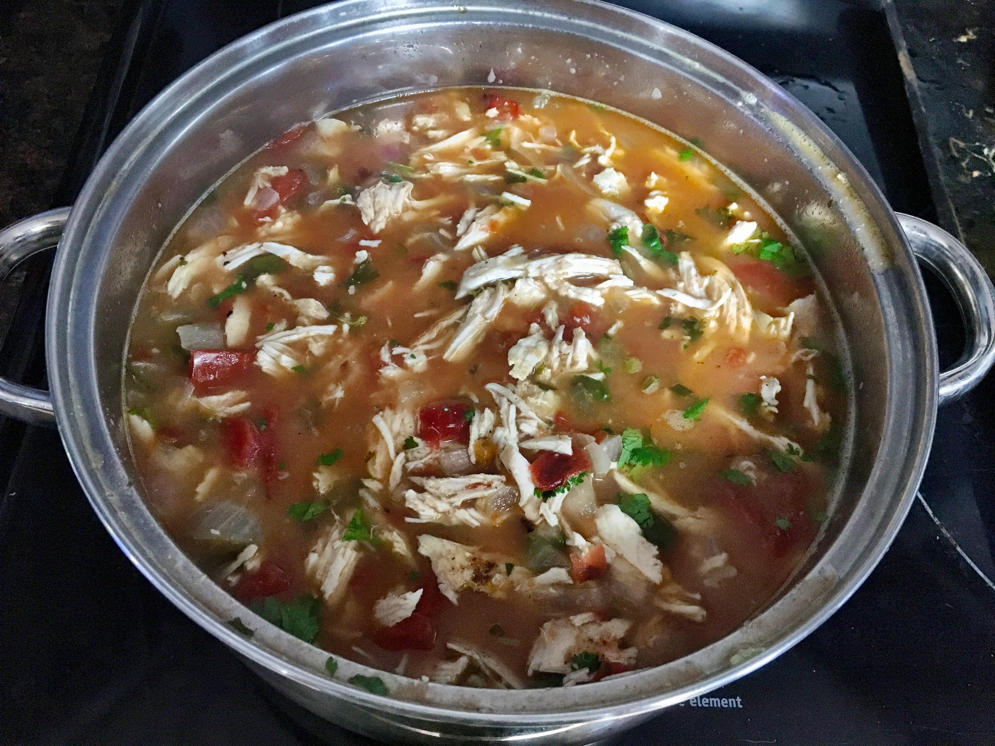 Chicken Tortilla-less soup