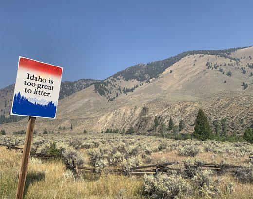 Idaho Mountains No Littering